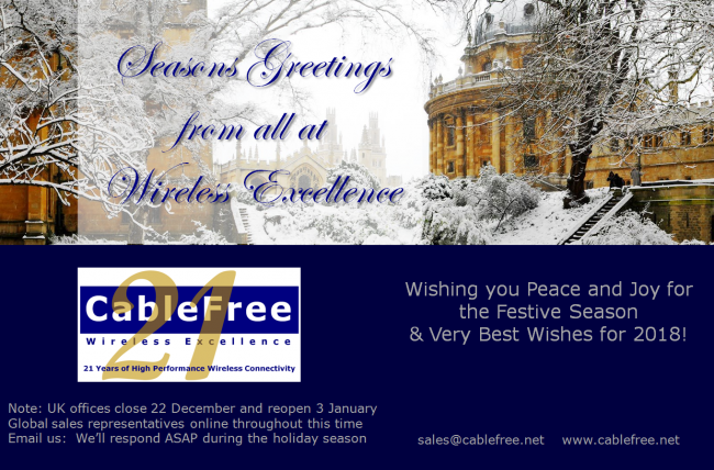 CableFree Seasons Greetings Dec 2017