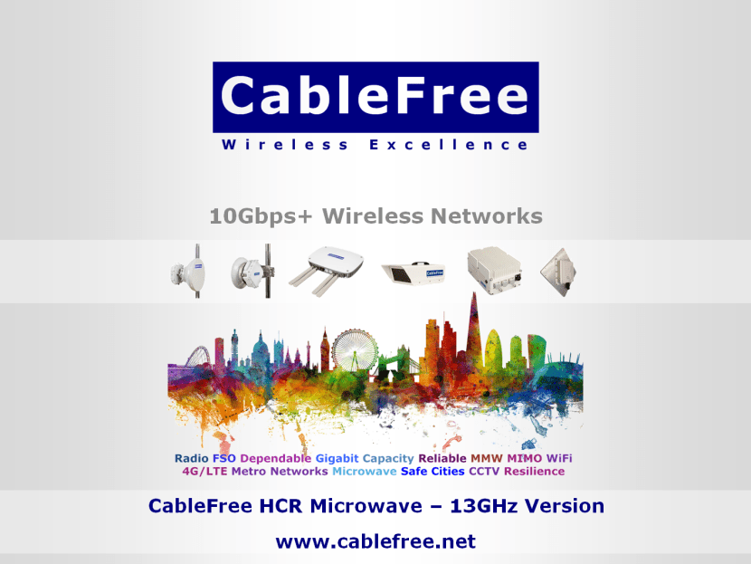 CableFree HCR Microwave in 13GHz band