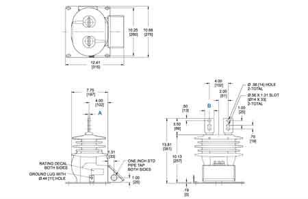 Medium Voltage Outdoor Current Transformers CT ABB KON-17