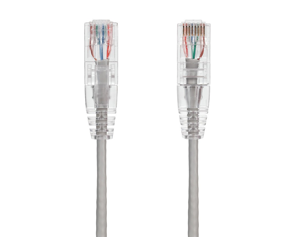2ft Ultra Slim Cat6 28 AWG UTP Snagless Ethernet Network