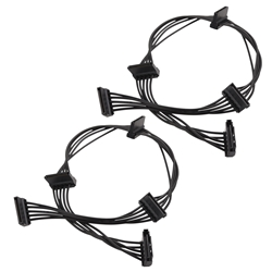 2-Pack 15 Pin SATA to 4 SATA Power Splitter Cable 18 Inches