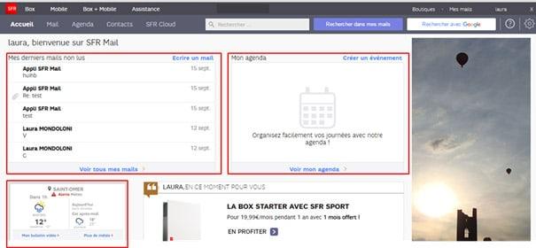 Test du nouveau webmail SFR Mail