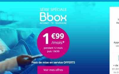 Promo : la Bbox ADSL est à seulement 1.99€/mois pendant 1 an