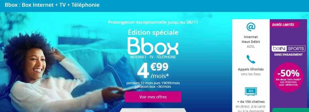 vente privée box : promo Bbox ADSL