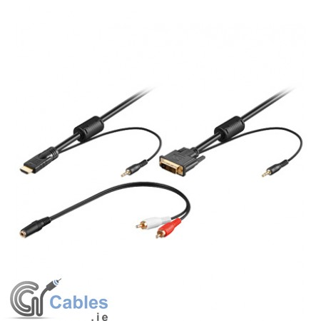 Buy online DVI cable to HDMI cable with 3.5mm Stereo Audio
