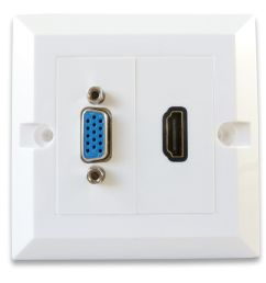 hdmi vga wall plate quick connect [ 1600 x 1200 Pixel ]