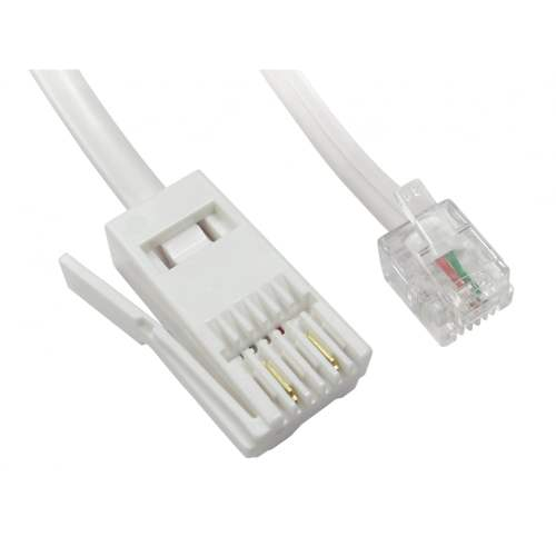 small resolution of two wire rj11 male to bt male cable