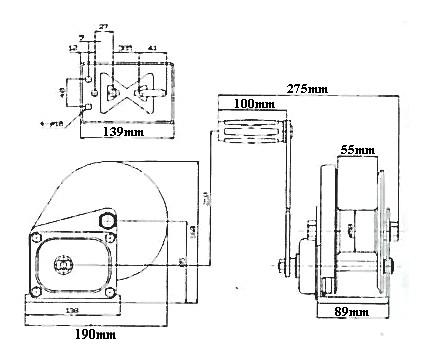 Treuil manuel à frein automatique cmu 540kg