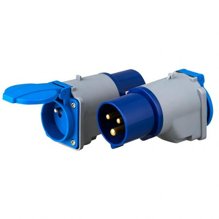 IEC 60309 Hookup Socket Adapter to French Receptacle