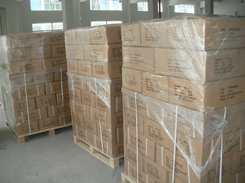 power cord pallet package