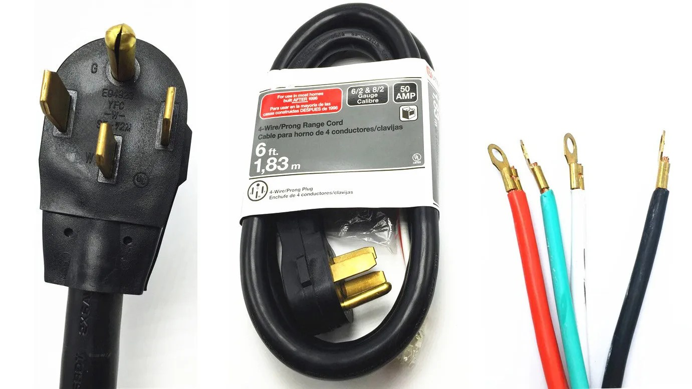 hight resolution of  4 wire range cord 50 amp