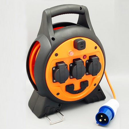 France Sockets Cable Reel 2 USB Ports