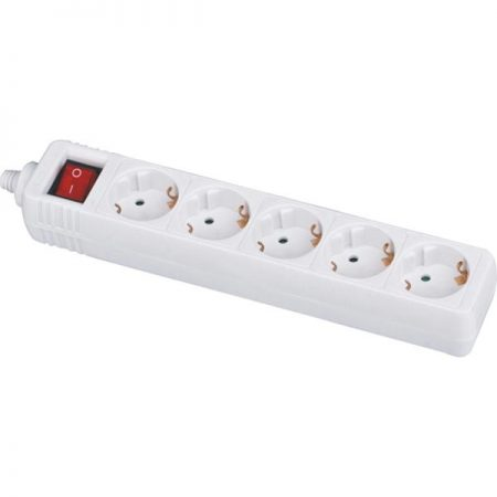 German Power Strip 5-Outlet with Swtich