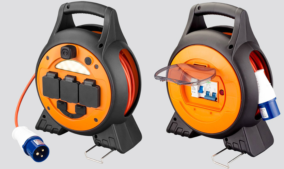 Mains Roller Reel with 2-USB Ports and LED Light MPR-H