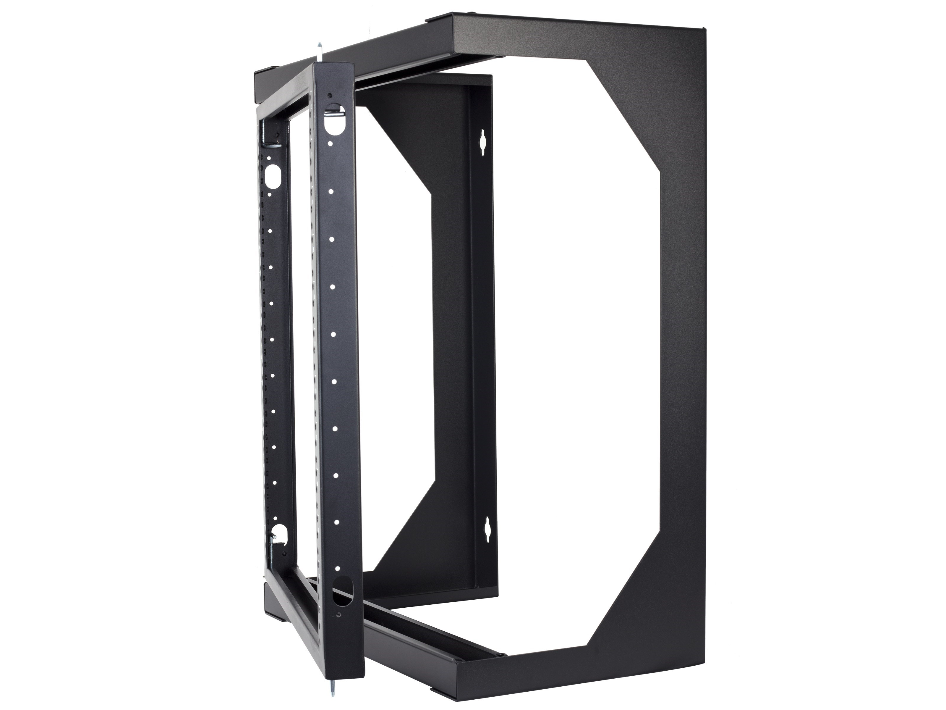 12u open frame swing out wall mount rack 201 series 12 inches deep flat packed