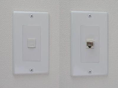 スナップイン中継コネクタ、両側RJ-45メス筒型、防塵カバー付き(LAN配線用、CAT6対応) :【ホームワイヤリング】