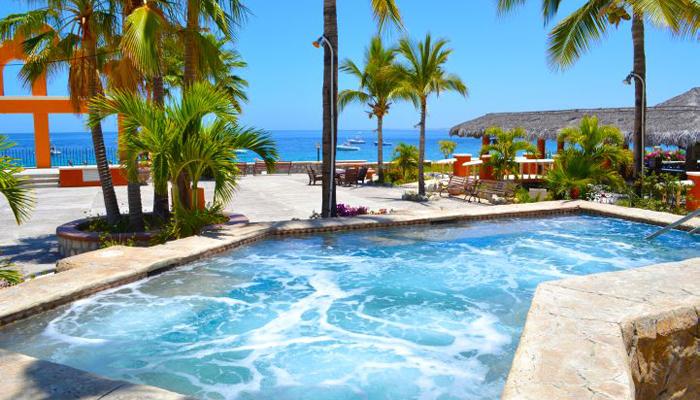 Hotel Palmas de Cortez Ocean View from Pool