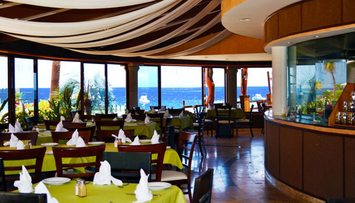 Inside Bay View Bar and Grill at Hotel Palmas de Cortez