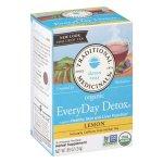 Coffee, Tea & Cocoa-Traditional Medicinals Organic EveryDay Detox Tea Lemon 16 Bags