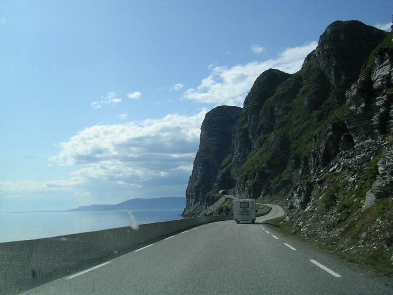 Estrada E 69, a carón do fiordo Porsangen