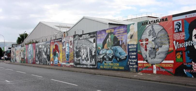 Murais na Falls Road, Belfast (barrio republicano)