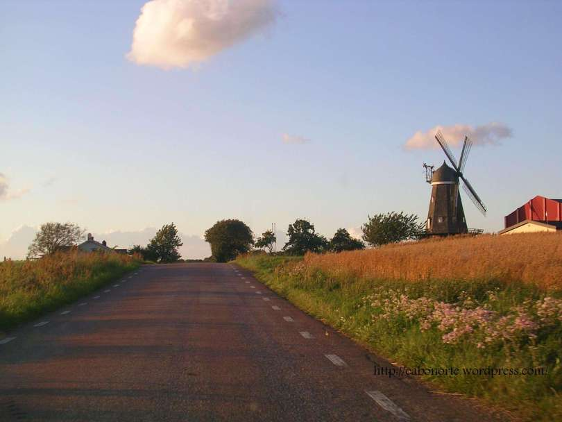 Muíño preto de Båstad. Suecia