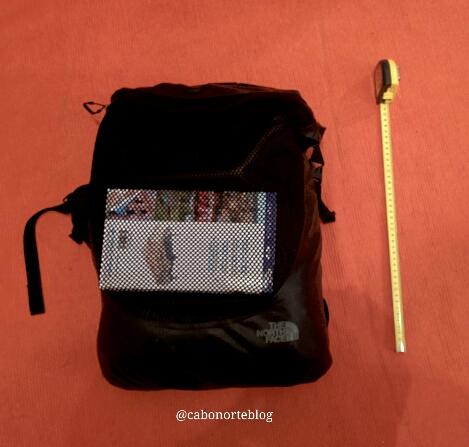 40 cm respecto á mochila de 37.5 litros