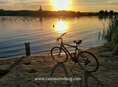 En bici en Sauliai