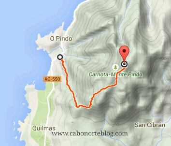 Mapa Monte Pindo