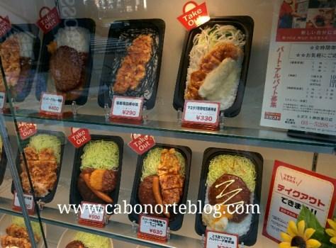escaparate, japon, comida, caomida japonesa