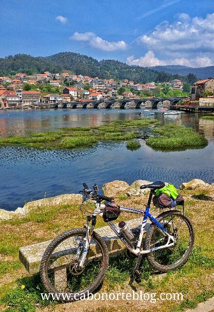 camino portugues, camino de santiago, pontesampaio, bici
