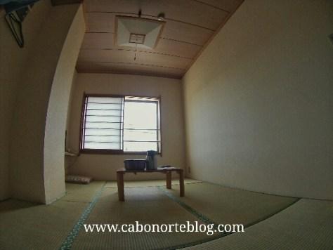 Habitación de ryokan sin los futones