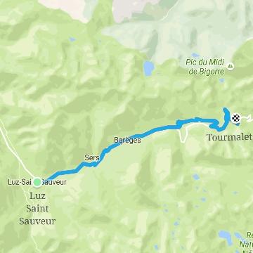 Recorrido de subida al Tourmalet desde Luz-Saint-Sauveur