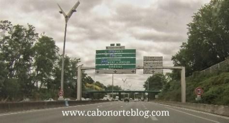 Autopista cerca de Burdeos