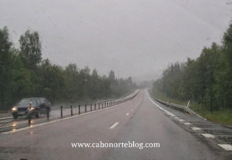 La lluvia en frecuente en los Países Escandinavos