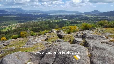 Vistas de O Rosal, O Miño, Santa Tegra e Portugal