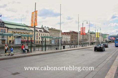 En las ciudades escandinavas suele ser difícil aparcar. Gotemburgo (Suecia)