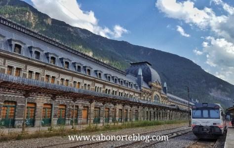 Estación de Canfranc, en los Pirineos