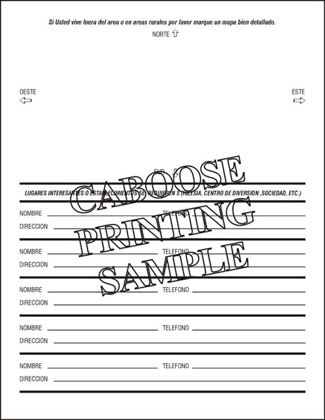 Spanish Credit Application – AD01S – package of 100 | Caboose Printing