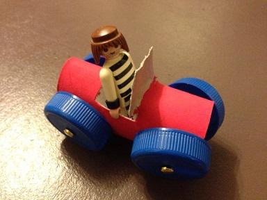 comment faire une voiture avec un rouleau de papier toilette