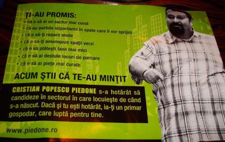 Cristian Popescu Piedone fluturas electoral