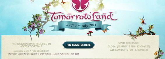 pre-registering pre-inregistrare Tomorrowland 2013