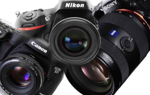 mix cameras Nikon Sony Canon