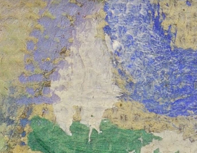 Gustav Klimt - Sărutul - detaliu