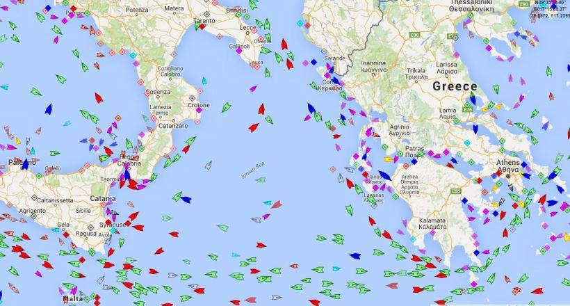 MarineTraffic Greece