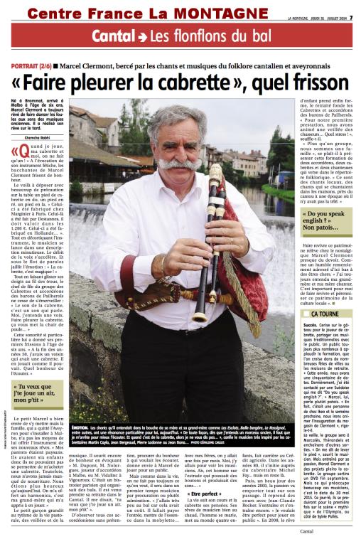 Marcel LMT 31 juillet 2014