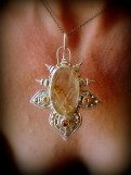 Rutilated Quartz And Citrine Lotus Pendant (4)