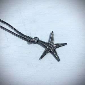 Starfish Necklace Cast in Sterling Silver