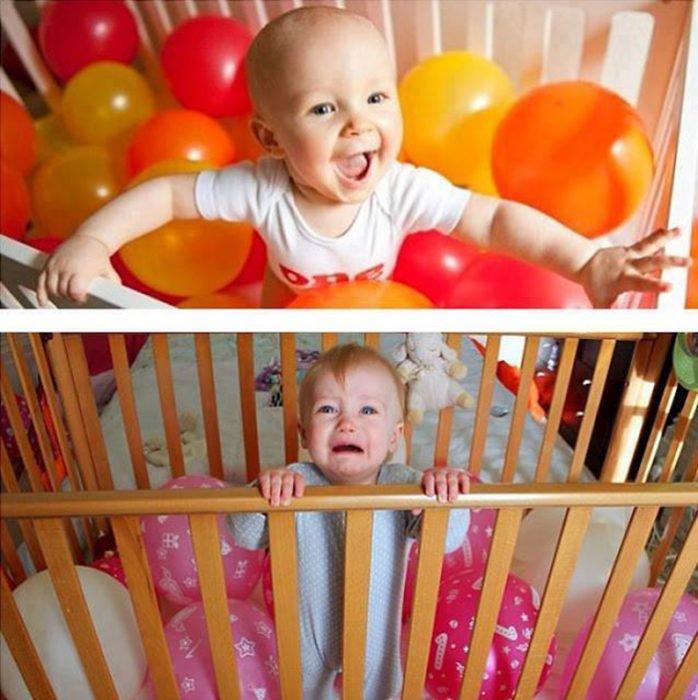 Expectativa vs realidad en fotos de niños pequeños13
