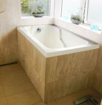 Nirvana Deep Soaking Bath Tub   Space Saving Bath